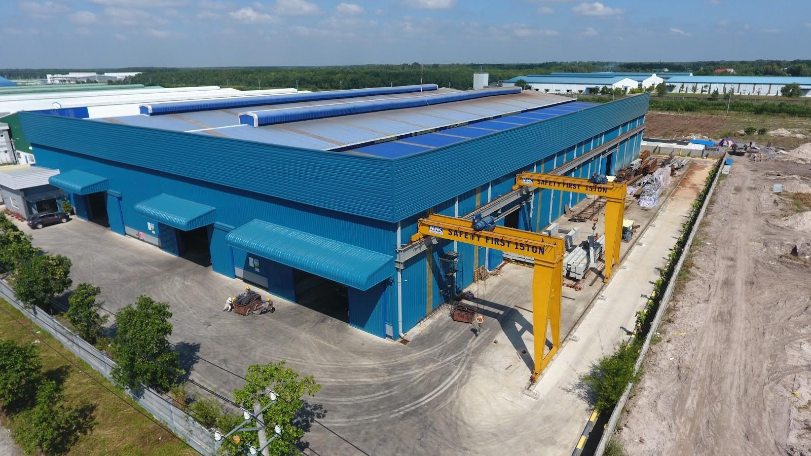 Nhà máy kết cấu thép của Vis tại KCN Bắc Tân Uyên, Bình Dương